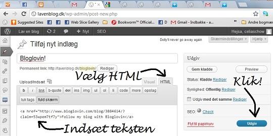 Opret din blog på Bloglovin'