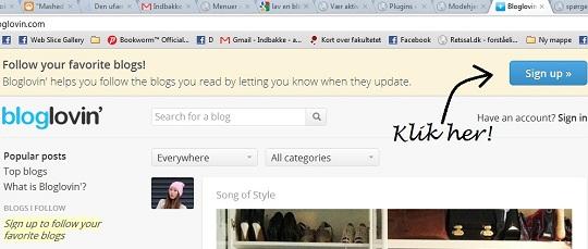 Bloglovin til din blog