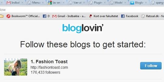 Sådan opretter du din blog på Bloglovin'
