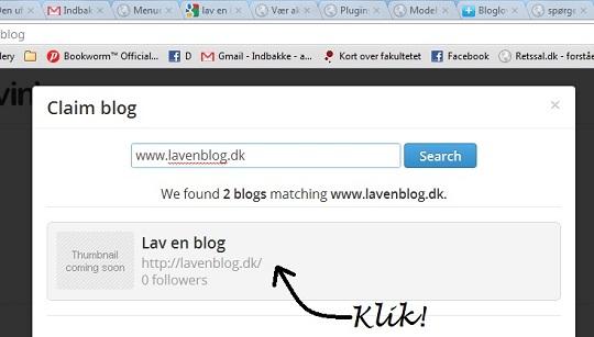 Opret blog på Bloglovin'
