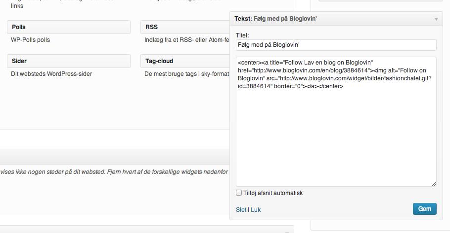 Bloglovin' ikon på din blog