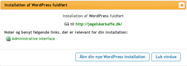Få WordPress på din Blog