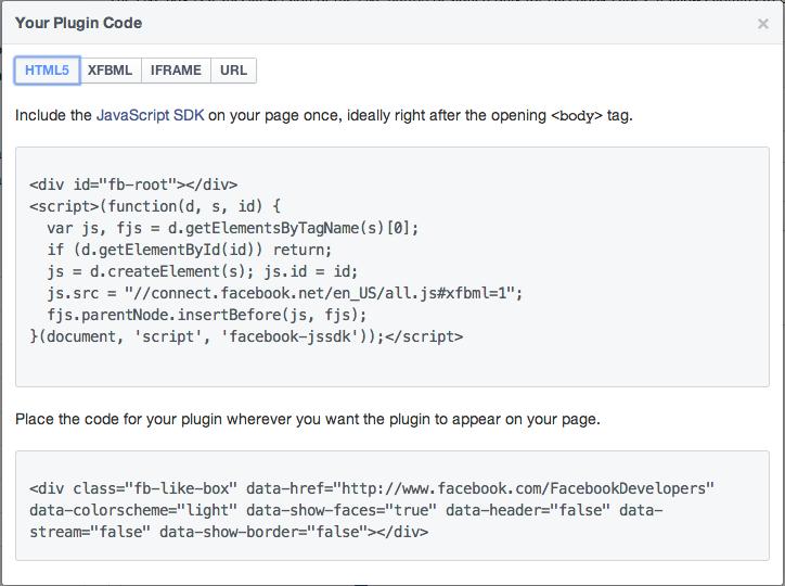 Få Facebook på din blog