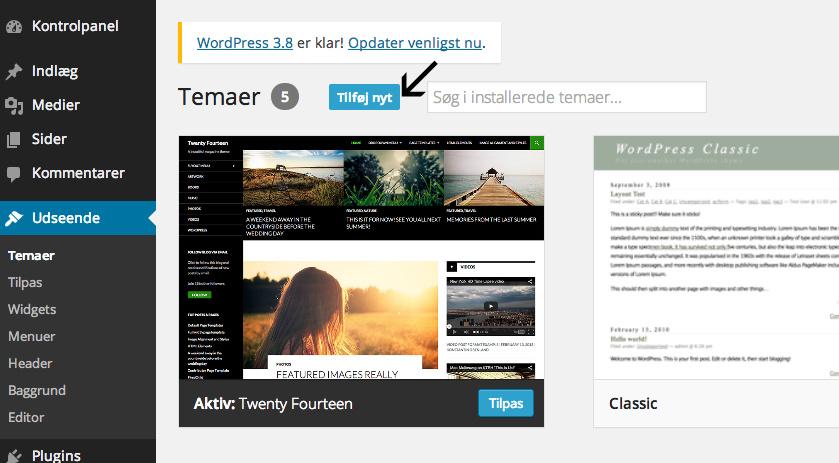 guide til wordpress theme