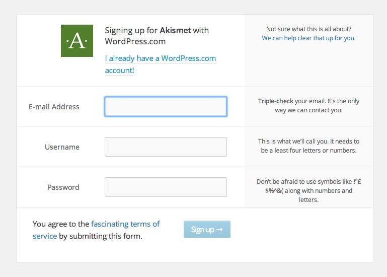 Akismet undgå spam