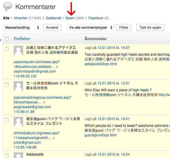 spam mappe