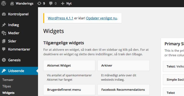 Design widgets til din blog