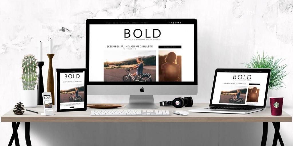Med BOLD WordPress tema får du et tema, hvor der er tænkt blogger gennem hele processen.