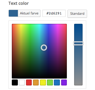 choose color BOLD theme