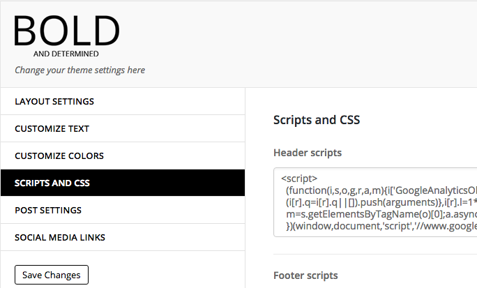 Scripts and css