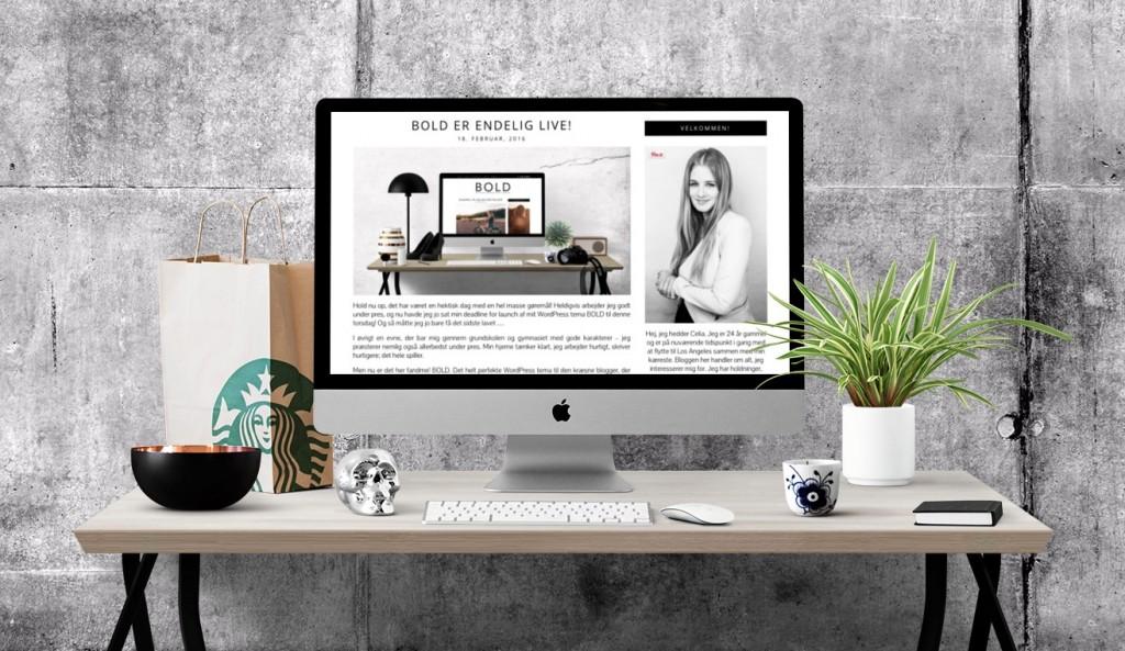 Et lille udsnit af min blogs sidebar. Blogdesignet er mit WordPress tema, BOLD