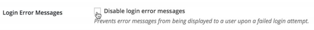 disable login message