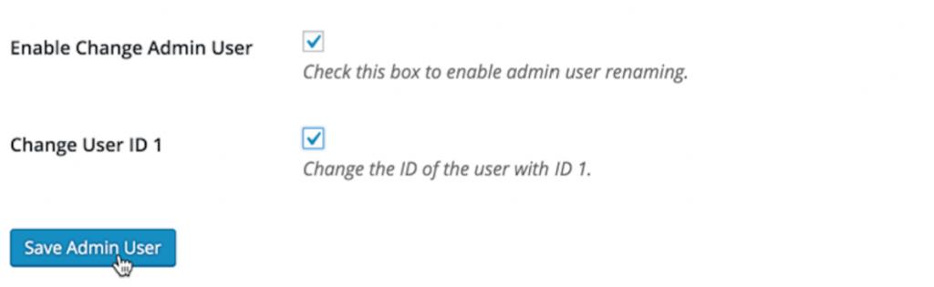 save admin user