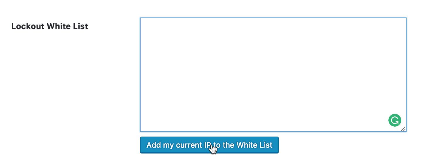 Nu gør du din IP adresse på en whitelist.