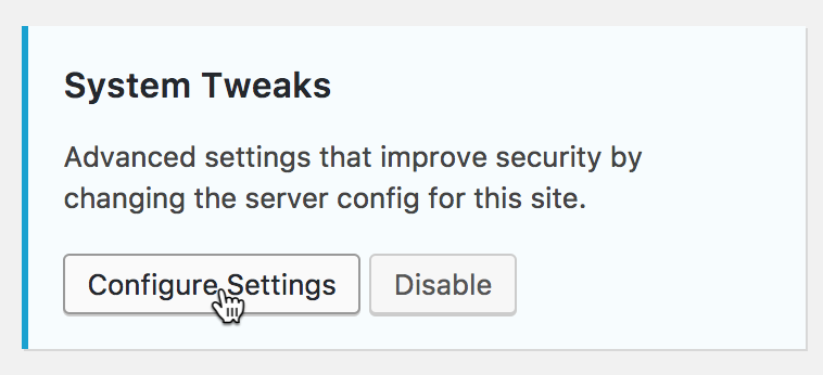 Her ændrer du dine indstillinger for iThemes Security indstillinger.