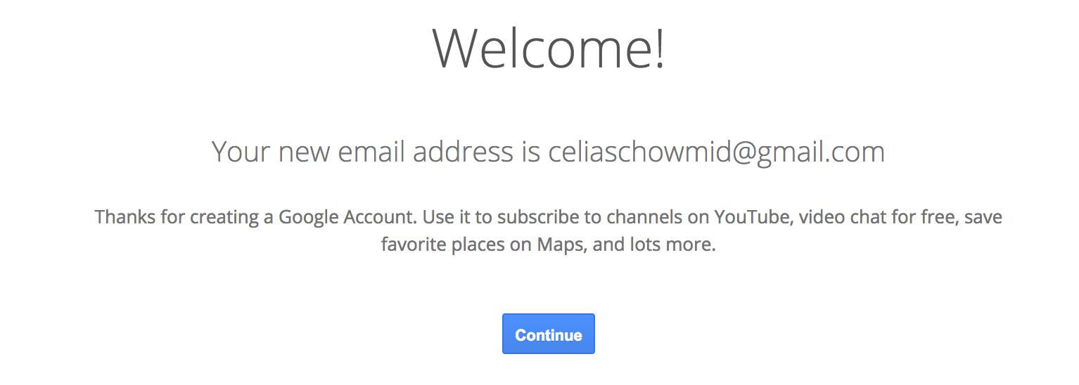 Nu er du tilmeldt din gmail.