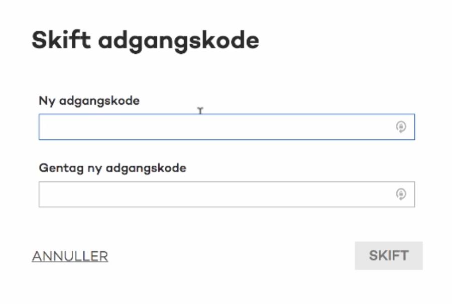 Her skifter du din adgangskode hos DK-Hostmaster.